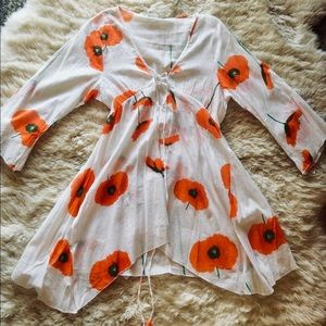Other - Poppy Print Summertime Swimsuit Coverup